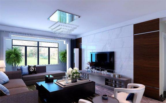 中海国际社区三室两厅130平米现代风格风格装修效果图
