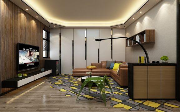简约风格87平米一居室新房装修效果图