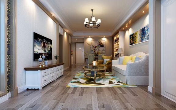 简欧风格136平米两室两厅新房装修效果图