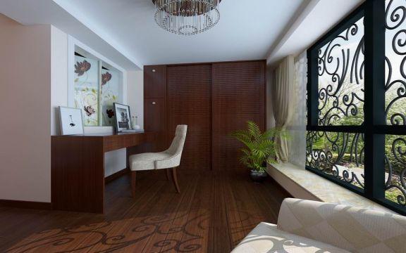 阳光房细节中式风格装潢效果图
