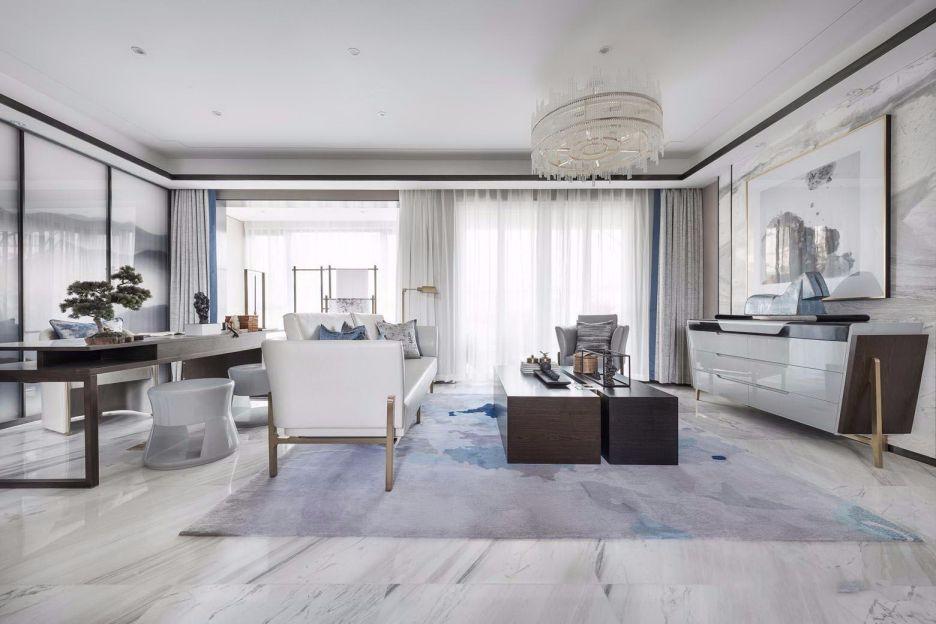 顶秀国际小区110平中式风格两居室装修效果图