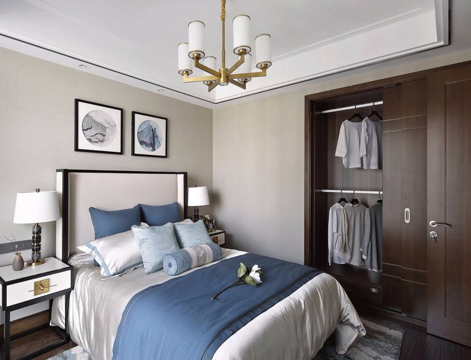 卧室床中式风格装饰效果图