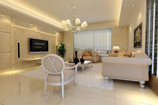 11万预算106平米三室两厅装修效果图