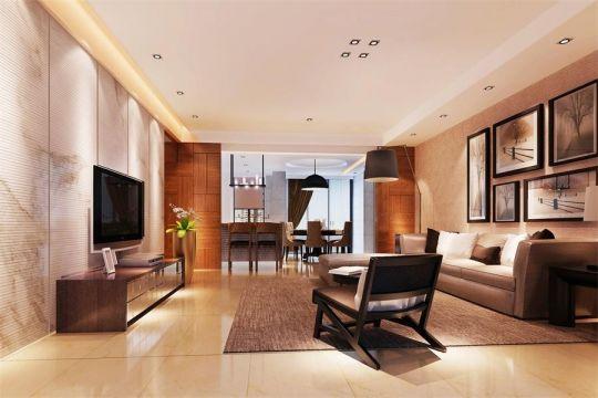 186平米现代中式三房装修效果图