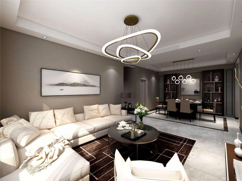 和昌森林湖150平米三室二厅后现代风格装修效果图