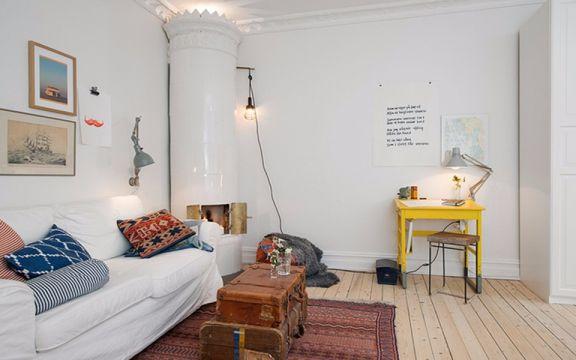 60平两室一厅田园风格装修效果图