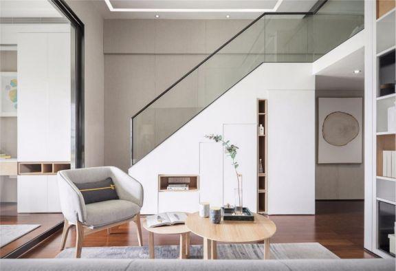 55平米简约风双层二居室单身公寓装修效果图