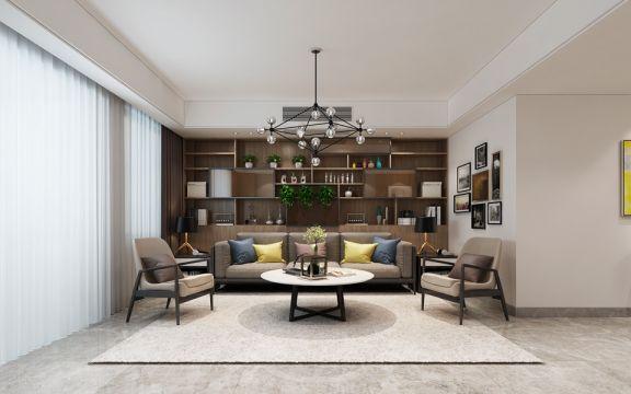 森林海170平方四居室现代简约风格装修效果图