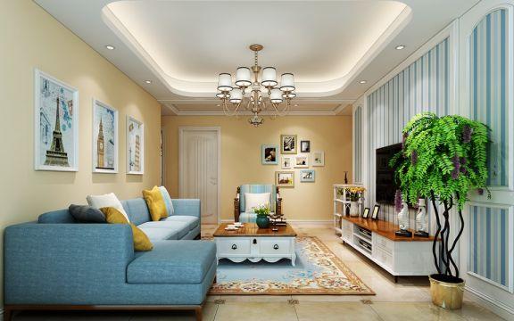 5.6万预算109平米三室两厅装修效果图