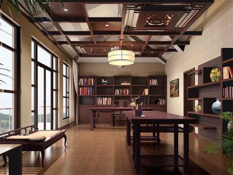 新中式风格别墅300平米装修效果图