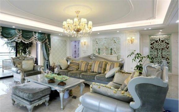 法式风格280平米别墅新房装修效果图