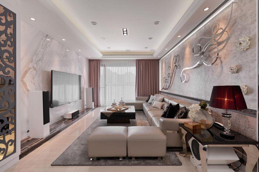140平两房两厅新古典风格装修效果图