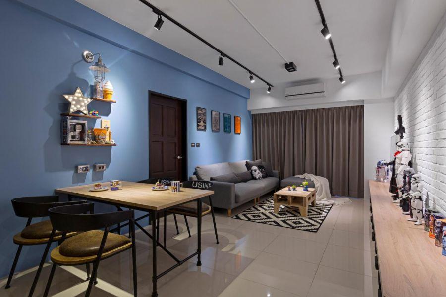 客厅落地窗现代欧式风格装潢设计图片