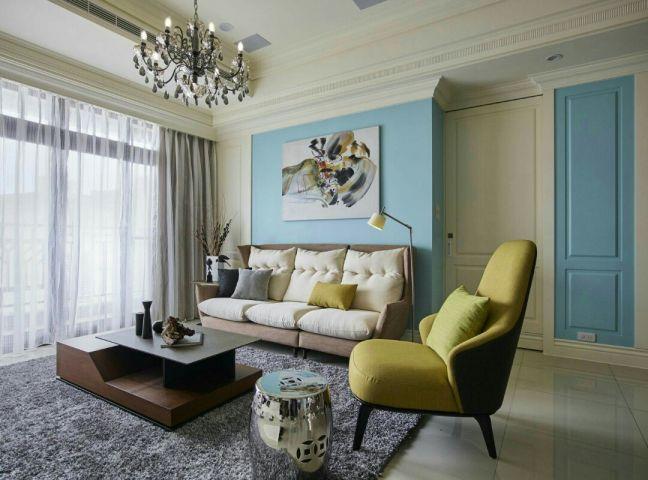 120平两房两厅现代风格装修效果图