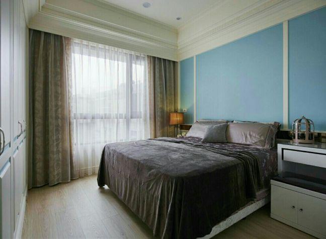 卧室背景墙乡村风格装修效果图
