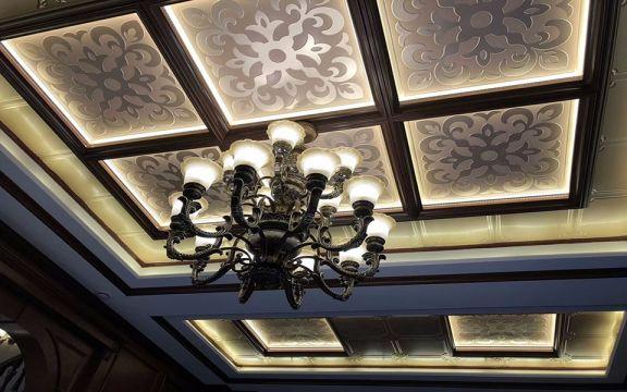餐厅灯具美式风格装潢效果图