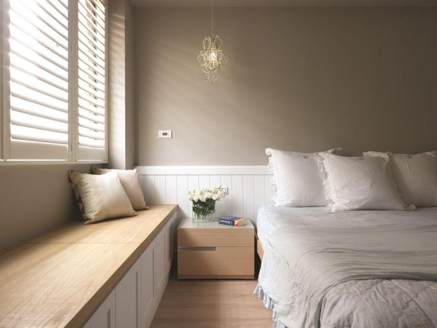 卧室窗台乡村风格装潢设计图片