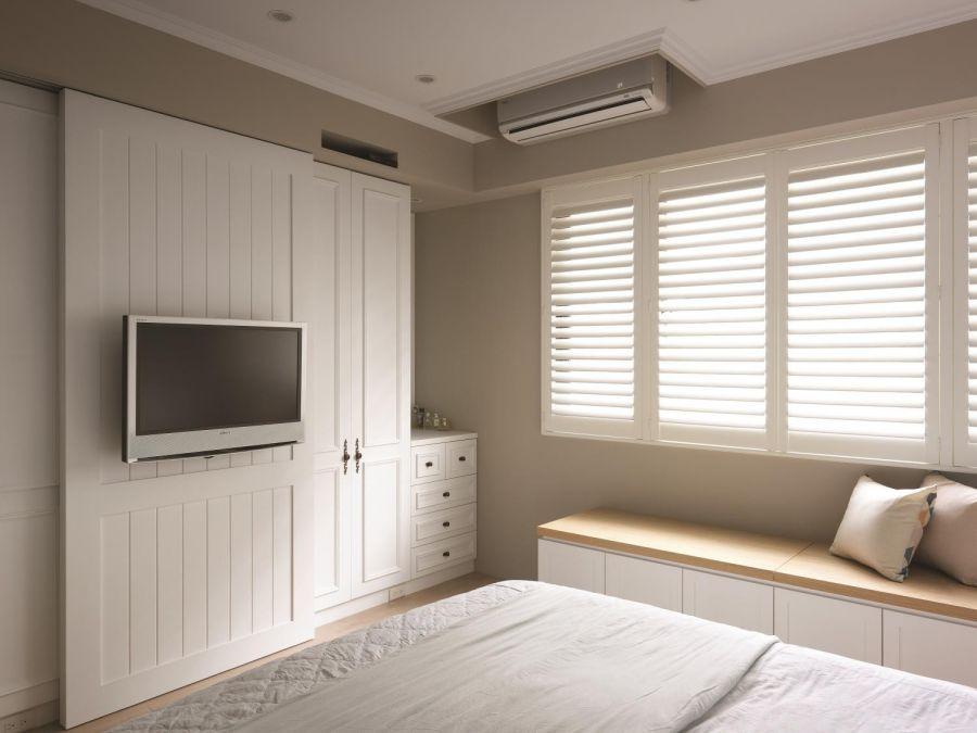 卧室窗帘乡村风格效果图