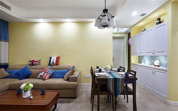 96平米地中海风格两居室装修效果图
