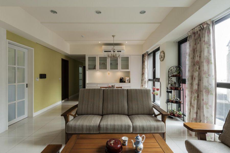 客厅沙发乡村风格装修图片