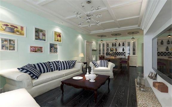 130平米三居室美式风格装修效果图
