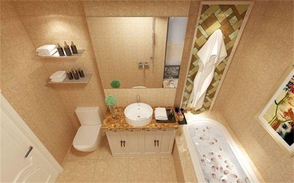 浴室浴缸美式风格装修设计图片
