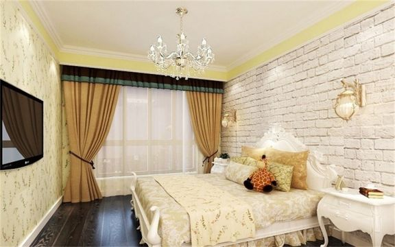 卧室窗帘美式风格装饰设计图片