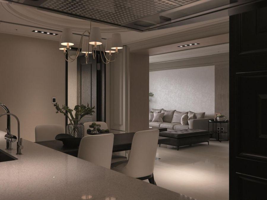 客厅背景墙古典风格装潢效果图