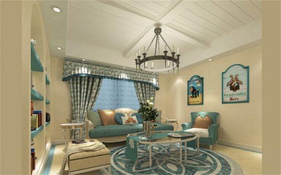 127平米地中海风格三居室装修效果图