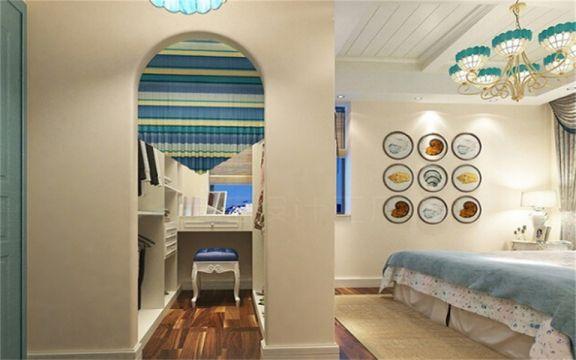 卧室梳妆台地中海风格装潢效果图
