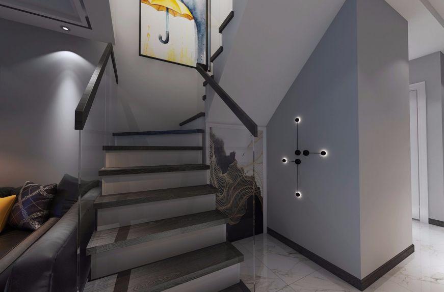 玄关楼梯简约风格装潢效果图