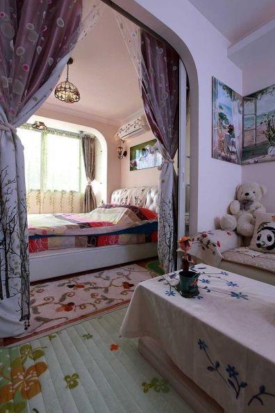 卧室床田园风格装饰图片