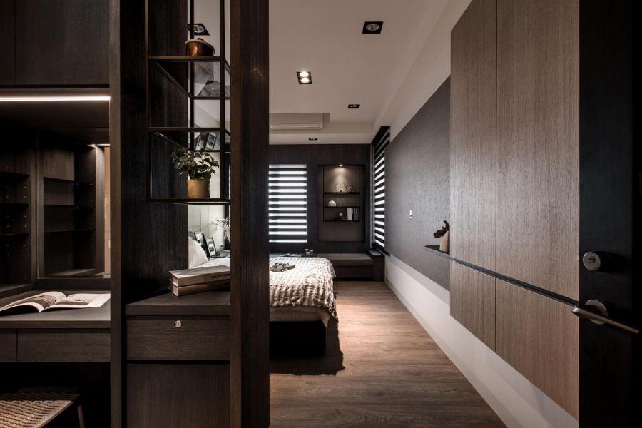 卧室隔断现代简约风格装修设计图片