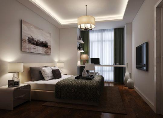 卧室灯具现代简约风格装潢效果图