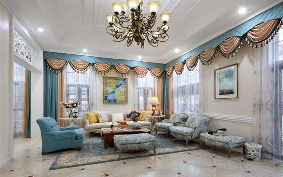 150平米美式风格四居室装修效果图