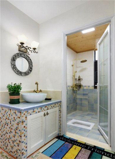 卫生间洗漱台美式风格装饰设计图片