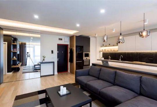保利香槟国际三居室90平米装修效果图
