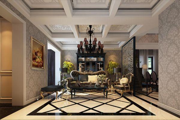 客厅地砖欧式风格效果图