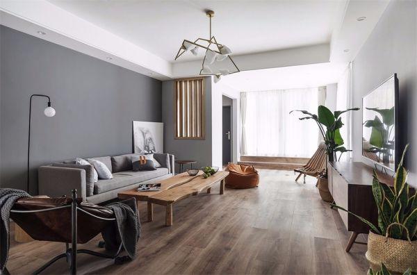 北欧风格115平米两室两厅新房装修效果图