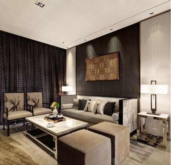 20万预算109平米两室两厅装修效果图