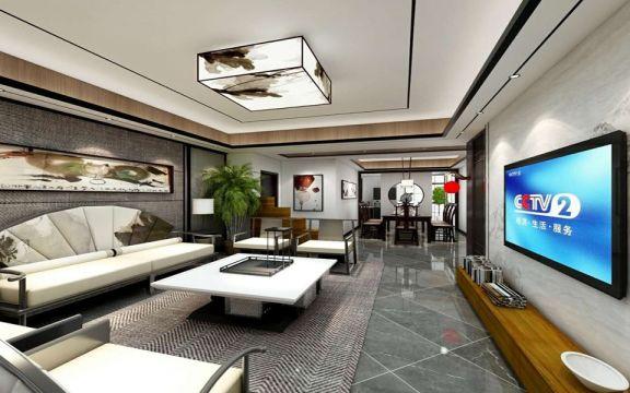188平方新中式风格四居室装修效果图