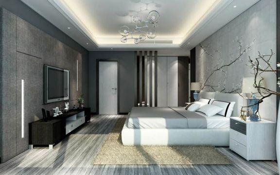 现代简约风格168平米四室两厅新房装修效果图
