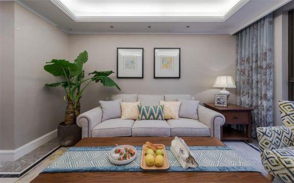 91平米美式风格两居室装修效果图