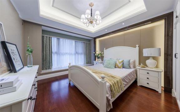 美式风格91平米两室两厅新房装修效果图