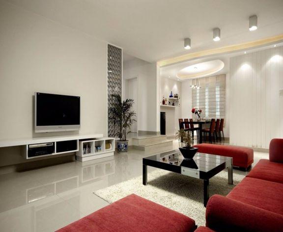 中庚香山99平现代风格三居室装修效果图