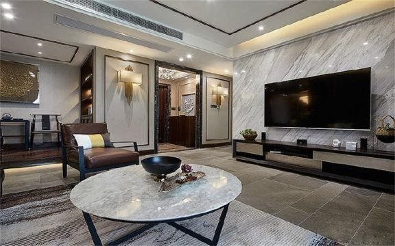 195平米新中式风格四居室装修效果图