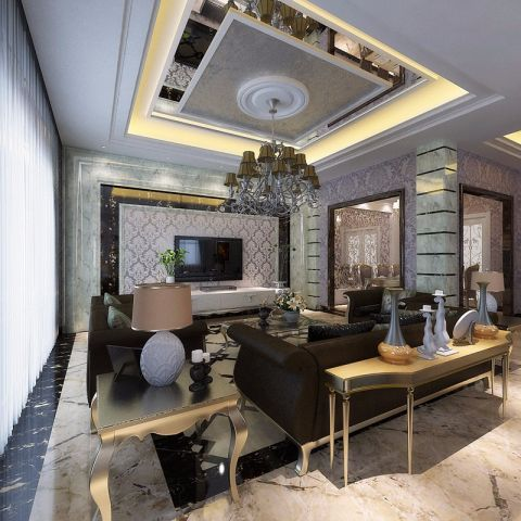 碧桂园260平米欧式风格4居室装修效果图