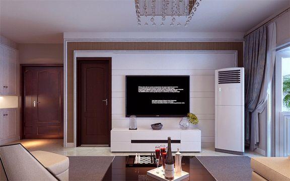 唐人中心130平简约风格楼房装修效果图
