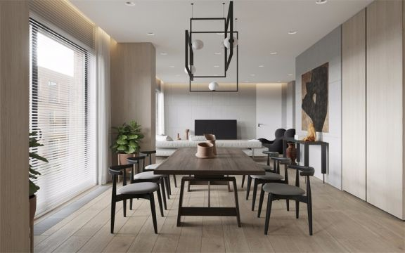 北欧风格105平米两室两厅新房装修效果图