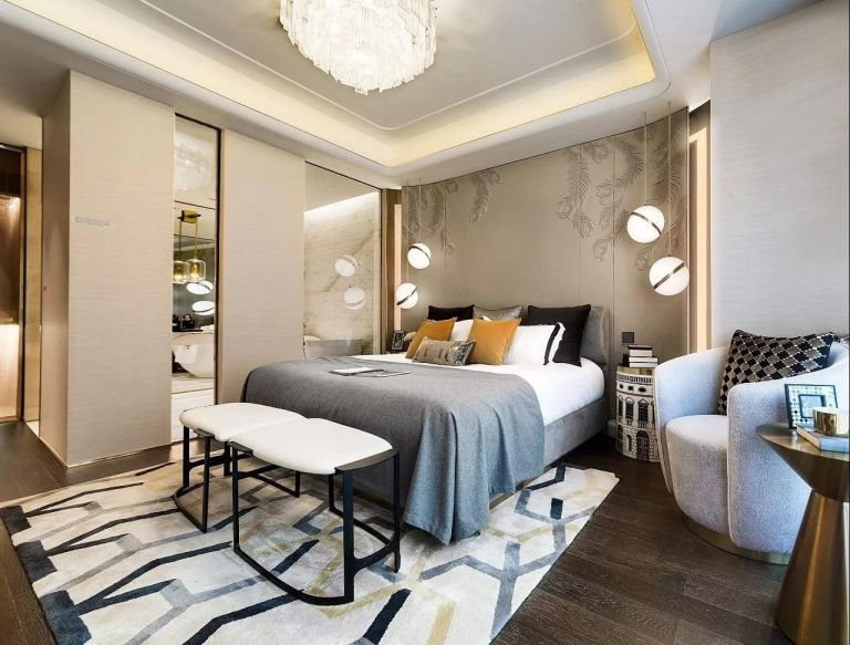 现代简约风格160平米三室两厅新房装修效果图